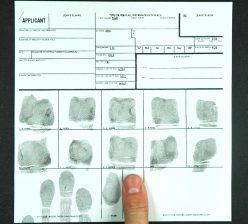 FBI Card Ink and Roll Fingerprints