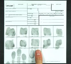 FBI Card Ink and Roll Fingerprints