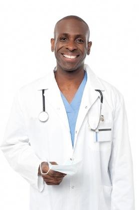 Doctor in Lab Coat