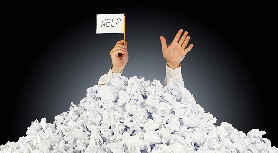 Help in pile of paper