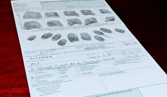 Fingerprints for Iran