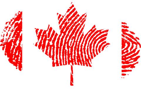 Canada Flag Fingerprint