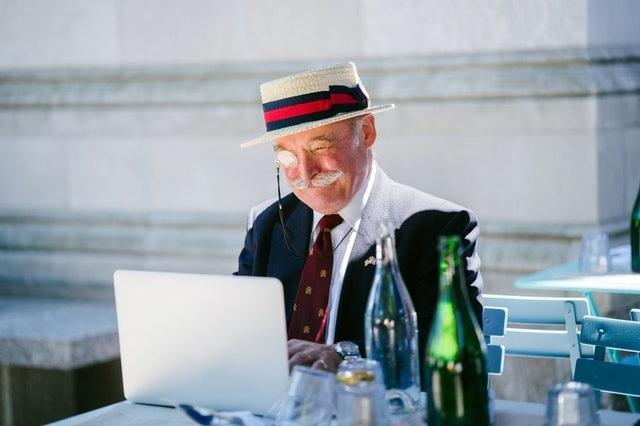 Gentleman on laptop